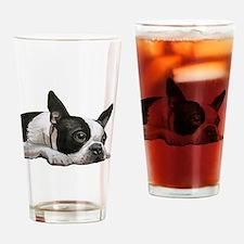 Unique Boston terrier Drinking Glass