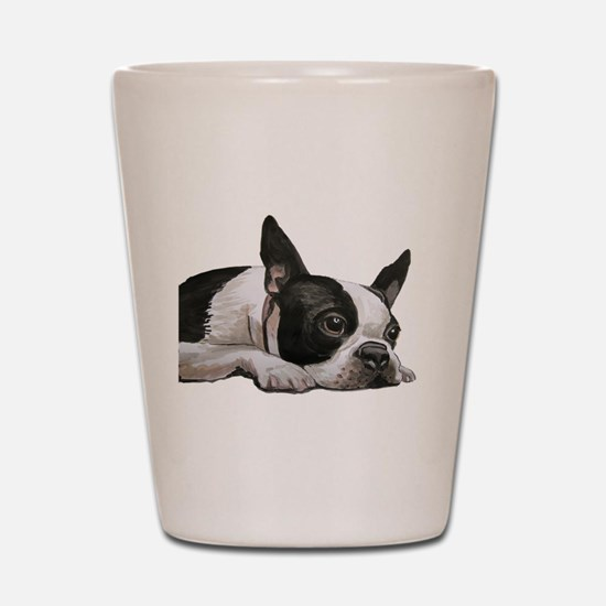 Cute Boston terriers Shot Glass