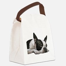 Cute Boston terrier Canvas Lunch Bag
