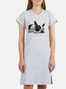 Unique Boston terrier Women's Nightshirt