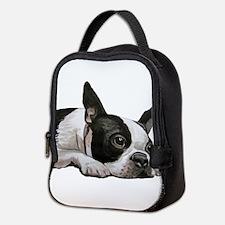 Cute Boston terrier Neoprene Lunch Bag