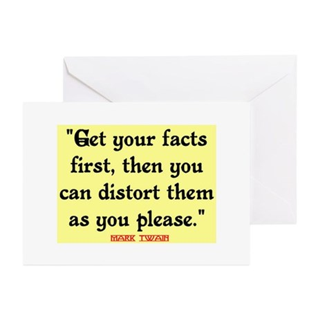 MARK TWAIN - FACTS FIRST QUOTE Greeting Cards (Pk