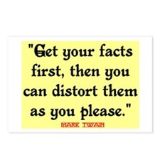 MARK TWAIN - FACTS FIRST QUOTE Postcards (Package