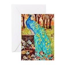 Funny Olive green Greeting Cards (Pk of 10)