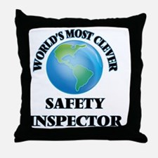 World's Most Clever Safety Inspector Throw Pillow