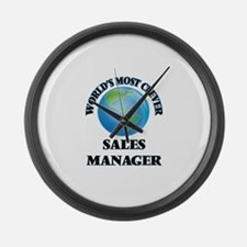 World's Most Clever Sales Manager Large Wall Clock