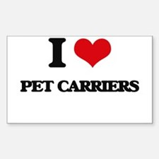 I Love Pet Carriers Decal