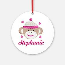 Personalized Sock Monkey Ornament (Round)
