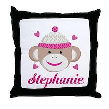 Personalized Sock Monkey Throw Pillow