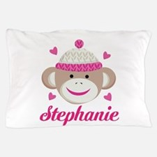 Personalized Sock Monkey Pillow Case