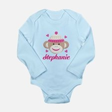 Personalized Sock Monkey Body Suit