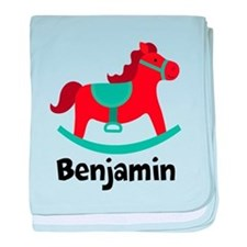 Personalized Baby Rocking Horse baby blanket