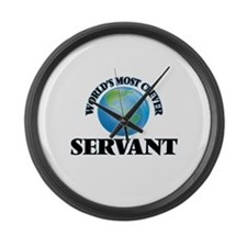World's Most Clever Servant Large Wall Clock