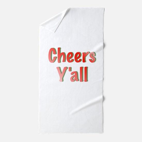 Cheers Y'all Beach Towel
