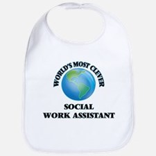 World's Most Clever Social Work Assistant Bib