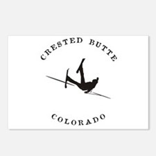 Crested Butte Colorado Funny Falling Skier Postcar