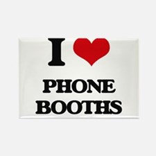 I Love Phone Booths Magnets