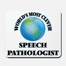 World's Most Clever Speech Pathologist Mousepad