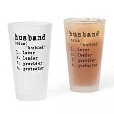 Husband Definition Drinking Glass
