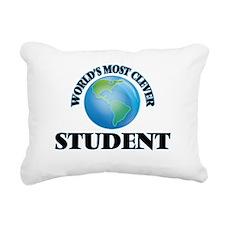 World's Most Clever Stud Rectangular Canvas Pillow