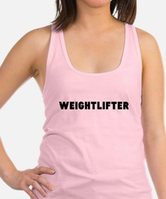 Cute Olympic lifting Racerback Tank Top