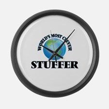 World's Most Clever Stuffer Large Wall Clock