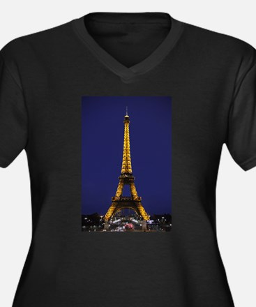Eiffel Blue Plus Size T-Shirt