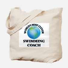 World's Most Clever Swimming Coach Tote Bag