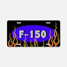 F150 Flames Aluminum License Plate