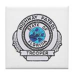Florida Highway Patrol Tile Coaster