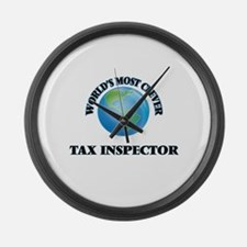 World's Most Clever Tax Inspector Large Wall Clock