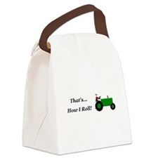 Green Tractor How I Roll Canvas Lunch Bag