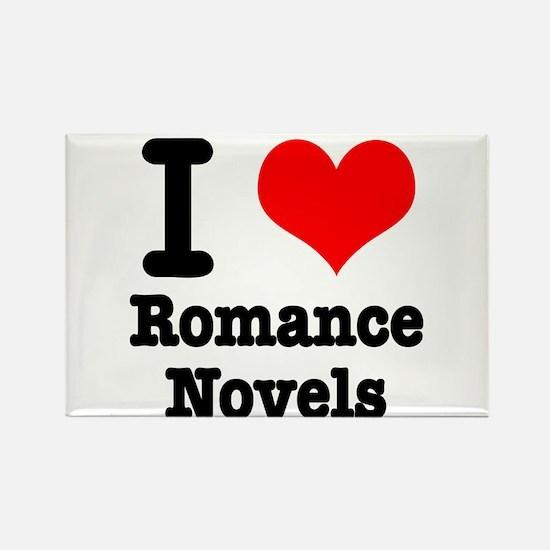 I Heart (Love) Romance Novels Rectangle Magnet (10