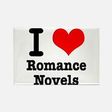 I Heart (Love) Romance Novels Rectangle Magnet