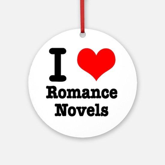 I Heart (Love) Romance Novels Ornament (Round)