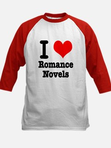 I Heart (Love) Romance Novels Kids Baseball Jersey
