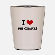 I Love Pie Charts Shot Glass