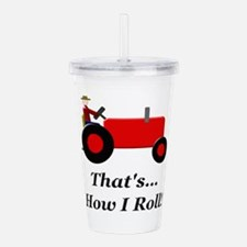 Red Tractor How I Roll Acrylic Double-wall Tumbler