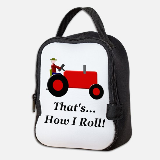 Red Tractor How I Roll Neoprene Lunch Bag