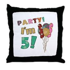 Cute 5 girl Throw Pillow
