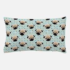 Pugs on Polka Dots.jpg Pillow Case