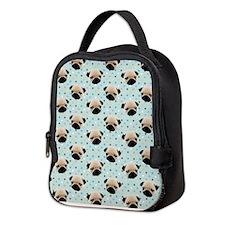 Pugs on Polka Dots.jpg Neoprene Lunch Bag