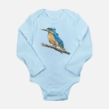 Kingfisher Long Sleeve Infant Bodysuit
