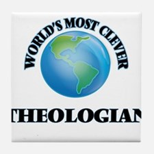 World's Most Clever Theologian Tile Coaster