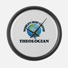 World's Most Clever Theologian Large Wall Clock
