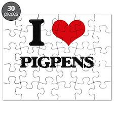 I Love Pigpens Puzzle