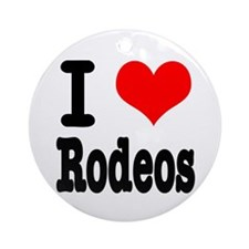 I Heart (Love) Rodeos Ornament (Round)