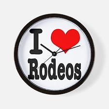 I Heart (Love) Rodeos Wall Clock