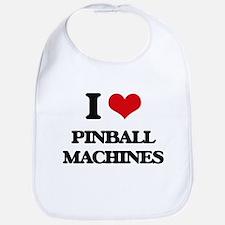 I Love Pinball Machines Bib