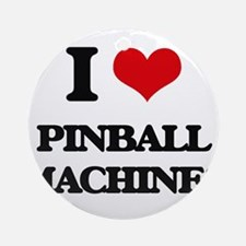 I Love Pinball Machines Ornament (Round)